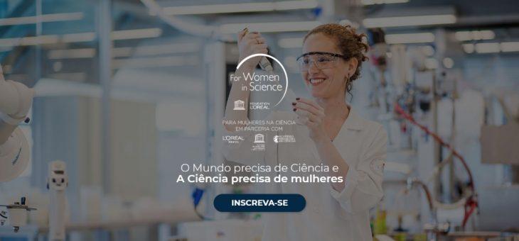 Prêmio 'Para Mulheres na Ciência' está com inscrições abertas até 20/4