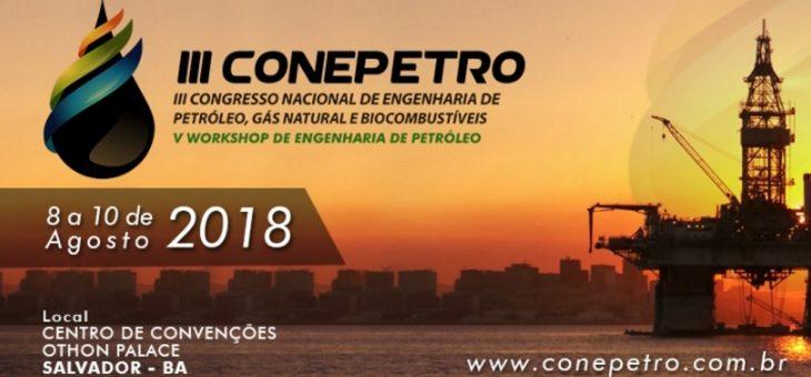 Inscrições abertas para Congresso Nacional de Engenharia de Petróleo, Gás Natural e Biocombustíveis. É possível se inscrever na UFCG até esta sexta-feira
