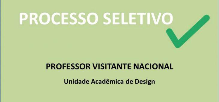 Processo Seletivo Simplificado para Professor Visitante da UAD – Resultado Final