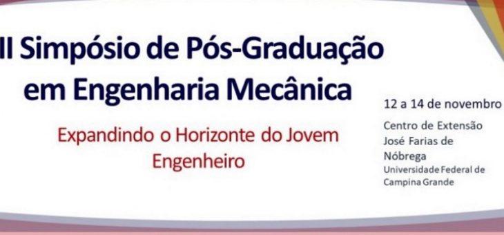 UFCG realiza II Simpósio de Engenharia Mecânica. Inscrições terminam nesta quarta (7/11)
