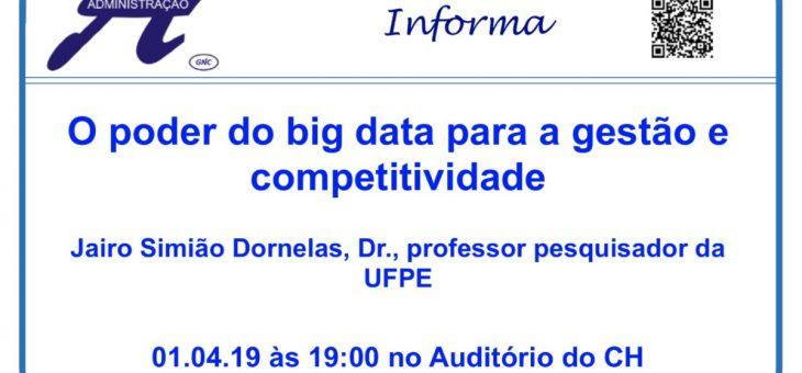 UFCG realiza evento sobre o poder do big data para a gestão e competitividade