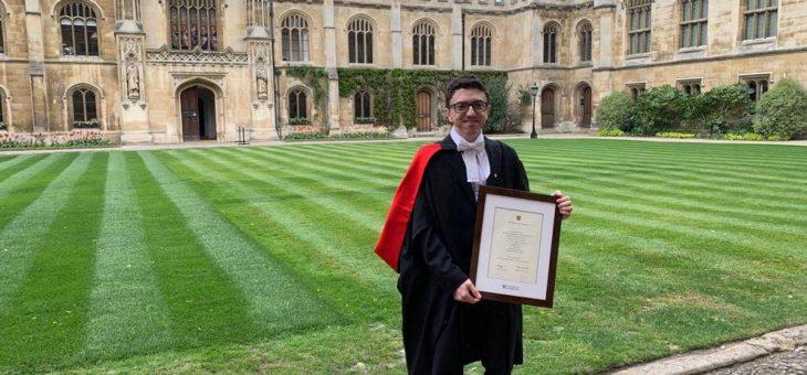 Ex-aluno da UFCG se torna Ph.D pela Universidade de Cambridge. Experiências e curiosidades são compartilhadas através do Instagram