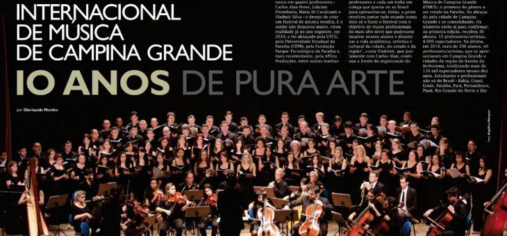 Nona edição da UFCG Revista destaca os 10 anos do Festival Internacional de Música