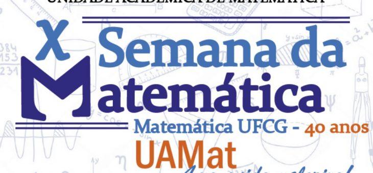 X Semana da Matemática tem início nesta segunda-feira