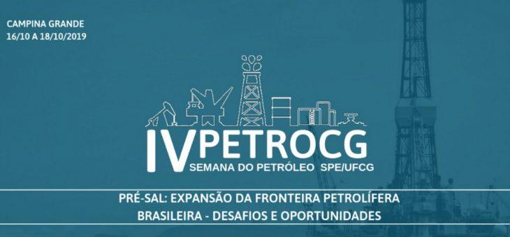 UFCG realiza IV Semana do Petróleo em outubro. Inscrições estão abertas