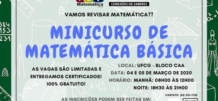 Unidade Acadêmica de Matemática realiza minicurso para receber e preparar novos alunos