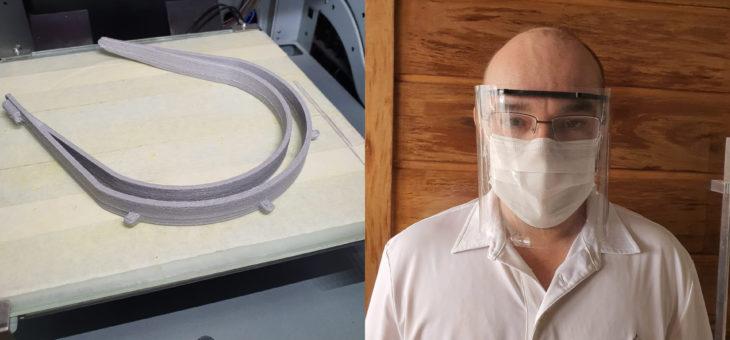 Equipe da UFCG trabalha na produção de máscaras para profissionais de saúde no combate ao COVID-19