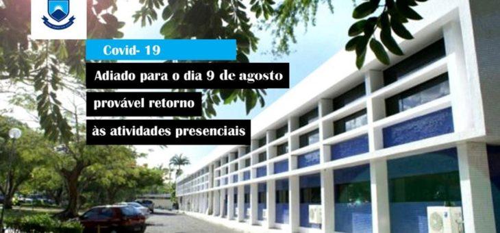UFCG adia para o dia 9 de agosto provável retorno às atividades presenciais