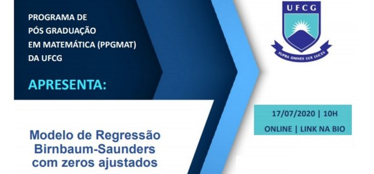 Programa de Pós-Graduação em Matemática da UFCG realiza palestra on-line